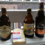 3 Belgian beers and Dutch cheese