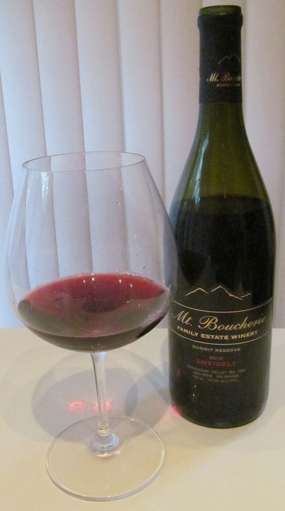 Mt Boucherie Summit Reserve Zweigelt 2010