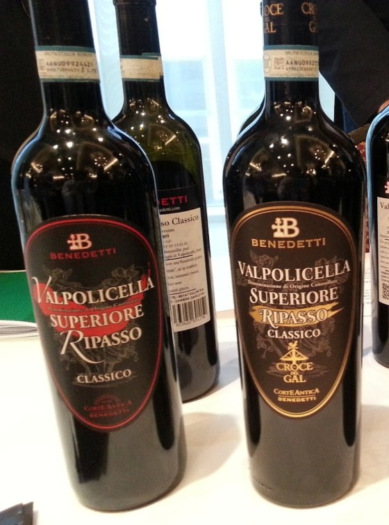 Benedetti Corte Antica Valpolicella Classico DOC Ripasso Croce Del Gal Label Black 2008 and Classico