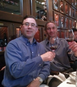 Karl MyWinePal and Paul Clifton from Hahn Family Wines