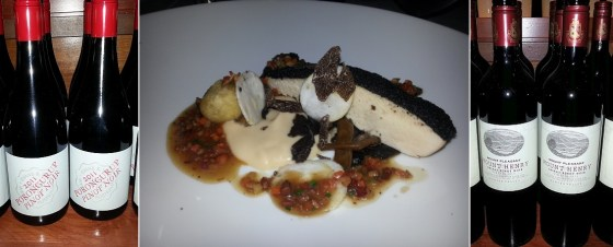 Black Truffle Crusted Chicken Breast with Pinot Noir and Shiraz Pinot Noir blend