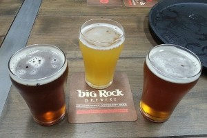Big Rock Red, Hefeweizen, and Pale ale
