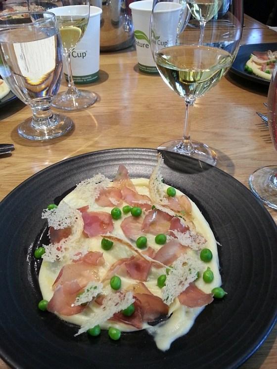 Forage: House-cured juniper lonza potato and garlic puree