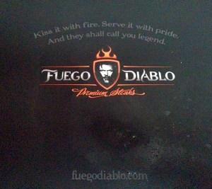 Fuego Diablo Premium Steaks box