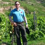 Karl MyWinePal in vineyard