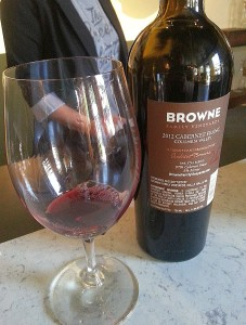Browne Family Vineyards Cabernet Franc 2012