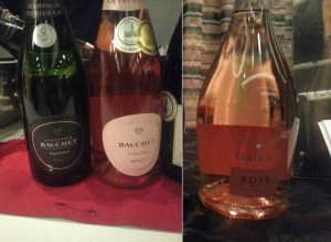 Champagne Bauchet Signature and Seduction Brut and Gancia Rose Brut