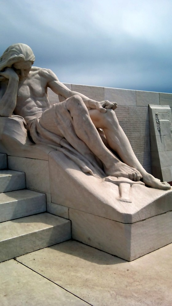A section of the Vimy memorial