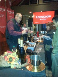 Cornucopia speaking with a winery principal at Cellar Door