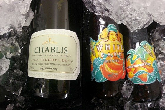 La Chablisienne La Pierrele Chablis and Driftwood Brewery White Bark Witbier