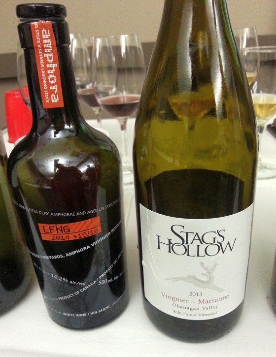 Laughing Stock Amphora and Stag's Hollow Kiln House Vineyard Viognier ~ Marsanne wine