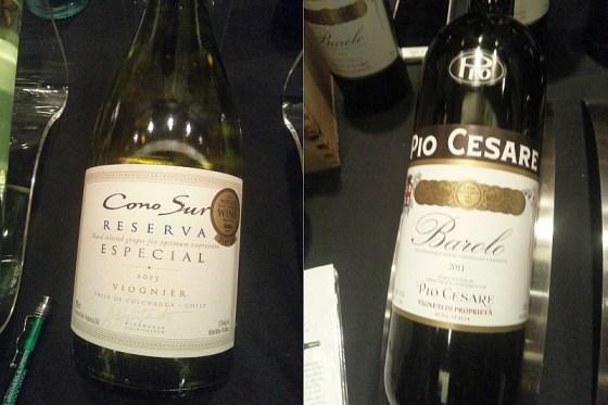 Cono Sur Viognier Reserva Especial 2013 and Pio Cesare Barolo 2011