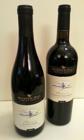 Mission Hill Reserve Pinot Noir and Cabernet Sauvignon 2013