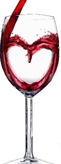 Wine glass with heart