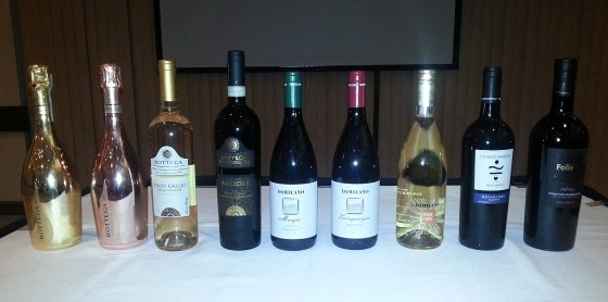 Bottega, Damilano, and Luccarelli wines at Il Centro