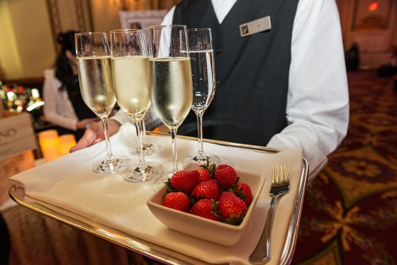 Sparkling wine and strawberries for everyone