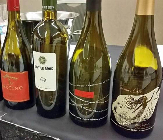 4 BC VQA Syrah wines