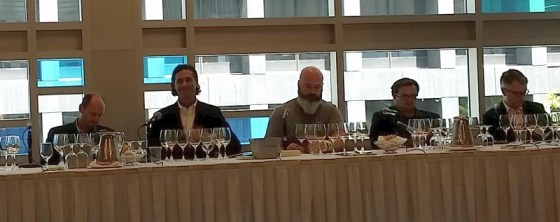 Our wine making panel of Michael Bartier, Grant Stanley, Marcus Ansems, Pascal Madevon, and Michael Clark