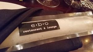 Champagne freezie at ebo restaurant