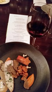 Chicken Duo with Quails' Gate Pinot Noir at ebo restaurant
