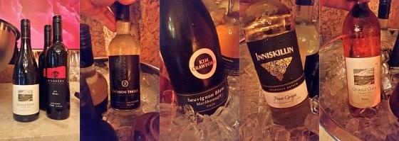 Wine flight at ebo restaurant dinner