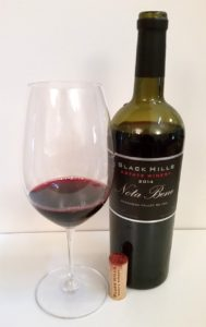 Black Hills Estate Winery Nota Bene 2014 in bottle and glass