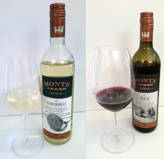 Monte Creek Ranch Chardonnay and Foch wines