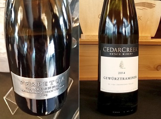 Mission Hill Family Estate Perpetua and CedarCreek Estate Winery Gewurztraminer