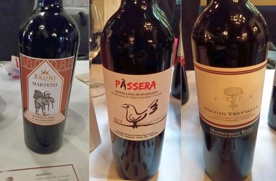 Bruni Marteto, Poggio Trevvalle Montecucco Rosse Poggio Trevvalle and Morellino di Scansano Passera