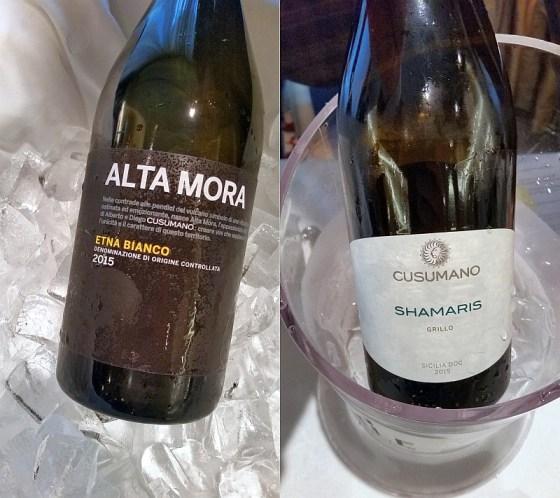 Cusumano Alta Mora Etna Bianco DOC 2015 and Sicilia DOC Shamaris 2015