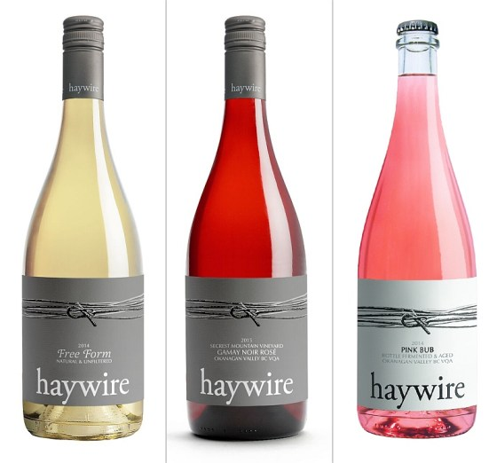Haywire Free Form White, Gamay Rose, and Pink Bub Sparkling