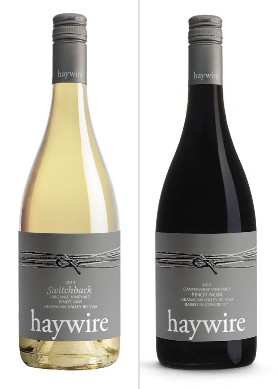 Haywire Switchback Pinot Gris 2015 and Canyonview Pinot Noir 2013