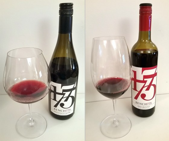 Bench 1775 Pinot Noir 2014 and Groove 2014