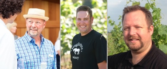 BC Wine makers Bailey (L), Andrew (M), and Lawrence (R)