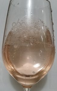Harpers Trail Rose Sparkling bubbles in the glass
