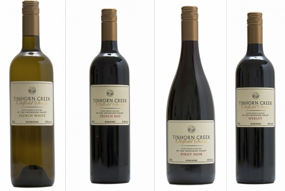 Tinhorn Creek Oldfield Series 2Bench White, 2Bench Red, Pinot Noir, and Merlot