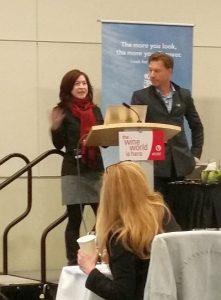 Barbara Philip and John Szabo leading the Trans Canada tasting seminar