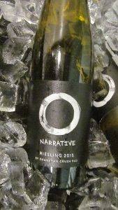 Haywire Narrative Riesling 2015 on ice