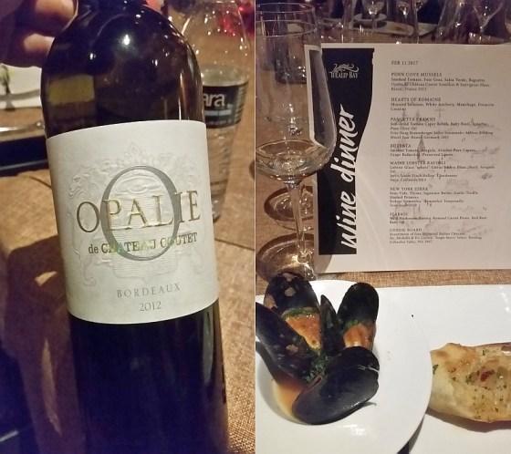 Opalie de Chateau Coutet Semillon & Sauvignon Blanc and Penn Cove Mussels