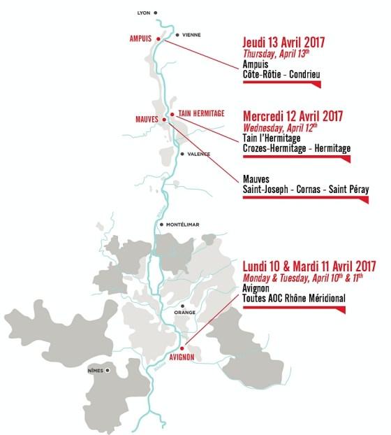 Rhone tour route