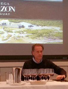 Alberto Antonini with his wines
