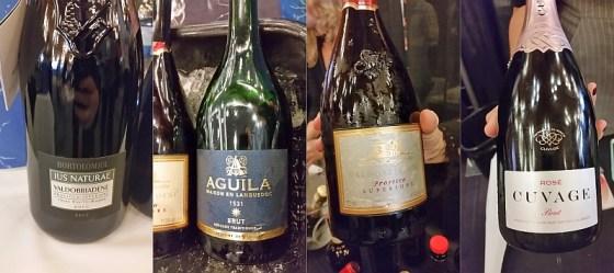 Bortolomiol, Sieur d'Arques Aguila, Santa Margherita, and Mondo del Vino Cuvage sparkling wines