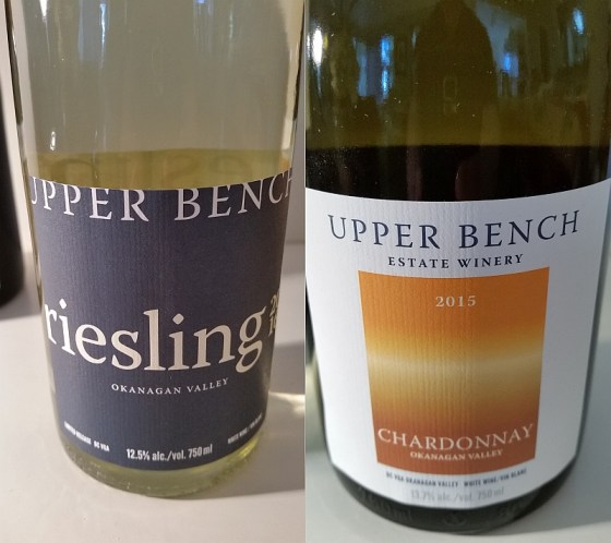 Upper Bench Riesling and Chardonnay wines