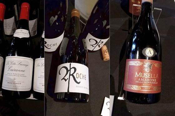 Domaine Boutinot La Cote Sauvage Cairanne, Roche Wines Pinot Noir, and Musella Amarone della Valpolicella Riserva wines