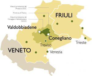 D.O.C.G. CONEGLIANO-VALDOBBIADENE (Courtesy http://levolpere.it/en_US/il-prosecco-docg-2/)