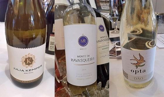 Julia Kemper White, Monte da Ravasqueira White, and Boas Quintas Opta Dao White Portuguese wines