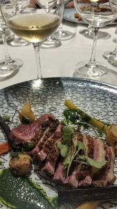 Duck breast at Peller Estates for lunch