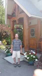 Graydon Ratzlaff outside the Recline Ridge Winery to greet us