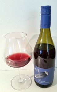Blue Grouse Quill Pinot Noir 2015 and glass