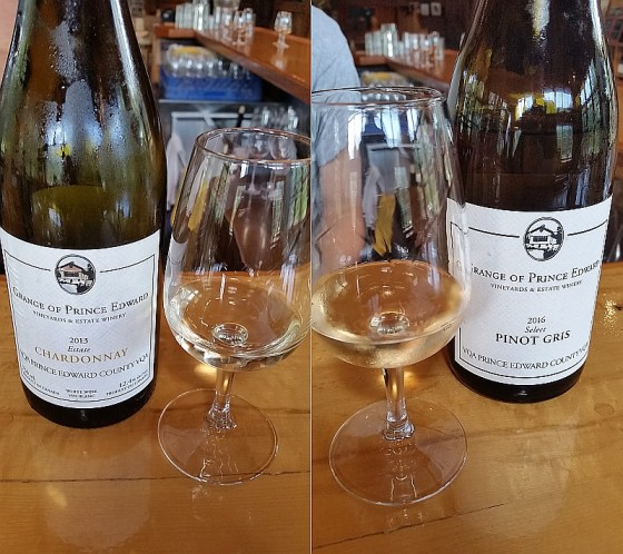 The Grange of Prince Edward Estate Chardonnay 2013 and Select Pinot Gris 2016
